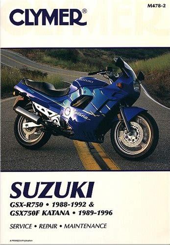 suzuki gsx gsxr 750 katana manual service repair owners