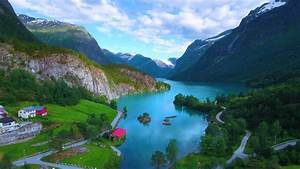 beautiful, nature, norway, natural, landscape, , aerial, footage