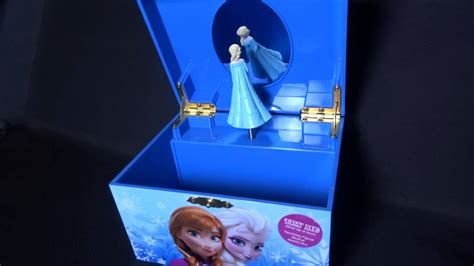 Frozen Elsa Anna Jewelry Music Box plays Let It Go - YouTube