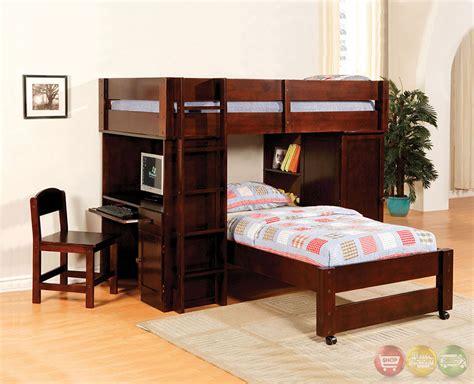 harford i walnut junior loft bed set with built in