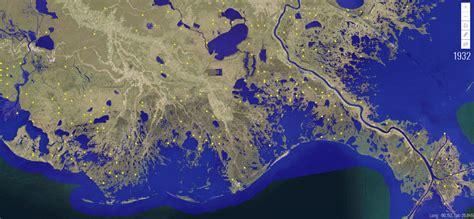louisiana  leading    real time sea level rise