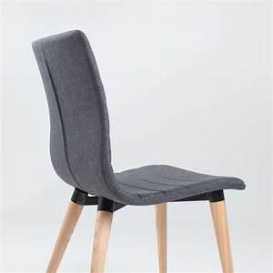 Chaise Scandinave Accoudoir : chaise scandinave en tissu et bois doris 4 pieds tables chaises et tabourets ~ Teatrodelosmanantiales.com Idées de Décoration