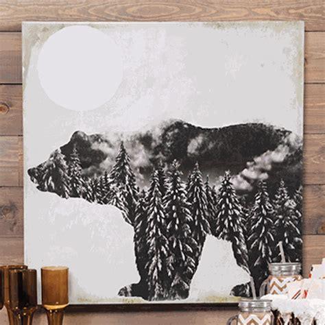 bear silhouette canvas wall art
