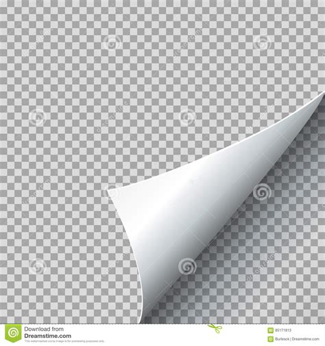 paper curl vector illustration curled page corner