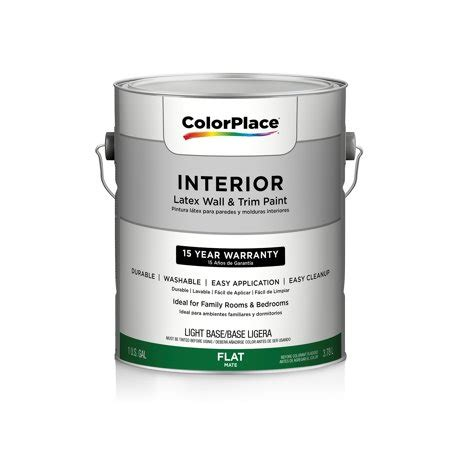 color place interior flat light paint base walmart