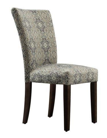 Damask Dining Room Chairs by Inspire Q Catherine Blue Damask Upholstered Parson Dining