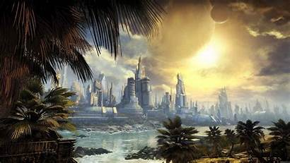 Future Wallpapers Fantasy Cityscape Desktop Nice Sunny