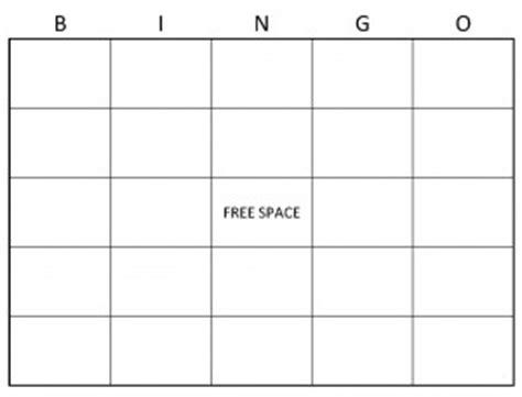 blank bingo cards blank bingo card template