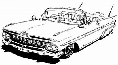 Coloring Lowrider Pages Cars Drawings Mustang Chevy
