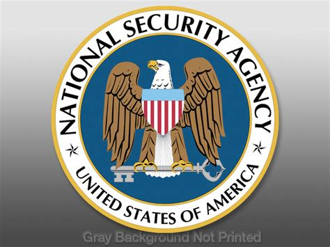 Nsa National Security Agency Seal Sticker