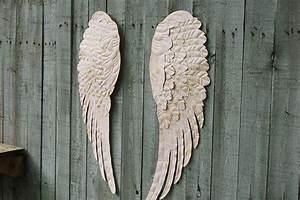 Pink angel wings wall decor the vintage artistry
