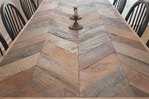 herringbone table gardens   wooden dining