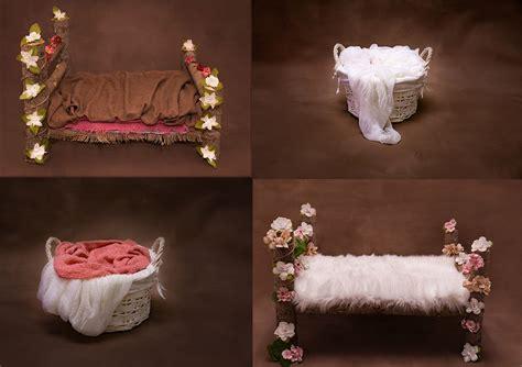 digital newborn backdrop flower bed wicker basket