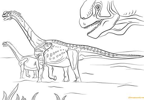 jurassic park camarasaurus coloring page  coloring