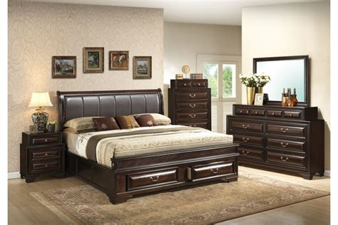 bedroom sets north coast cappuccino king size storage