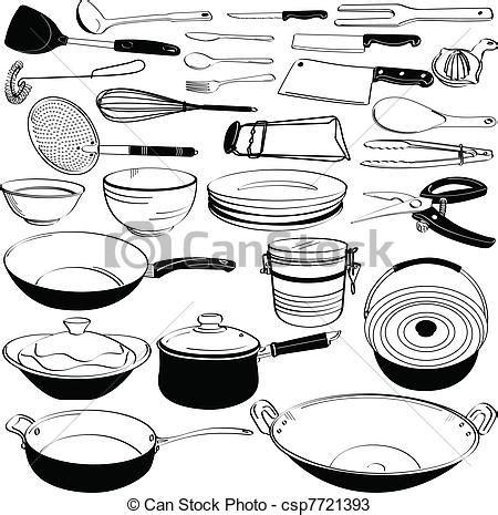 cuisine equipement vecteurs de cuisine outillage ustensile équipement a ensemble de csp7721393