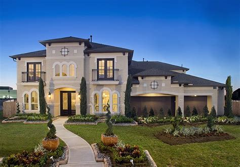 Home Design Houston : Firethorne Model Home Design 4931s
