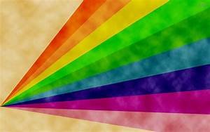 Rainbow on paper wallpaper - Abstract wallpapers - #150