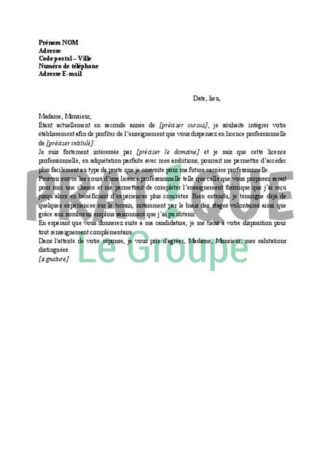 licence pro cuisine lettre de motivation pour bac pro cuisine
