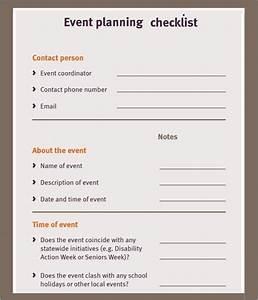 11  Sample Event Planning Checklists  U2013 Pdf  Word