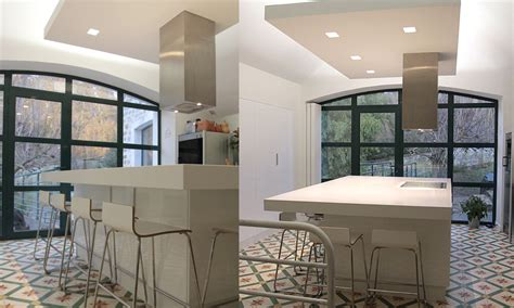 cuisine suspendu faux plafond cuisine design maison travaux