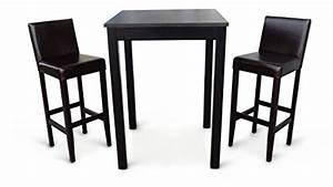 Bartisch Mit Barhocker : 2x barhocker mit bartisch set essgruppe stehtisch dunkelbraun bistrotisch 80x80x110 cm lbh holz ~ Yasmunasinghe.com Haus und Dekorationen