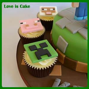Minecraft Cake And Cupcakes - CakeCentral.com