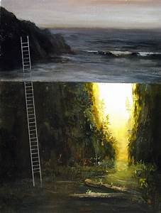 6 Dreamlike Acrylic Paintings of Split-Level Landscapes ...
