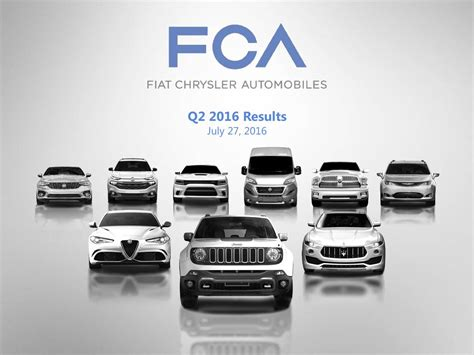 Fiat And Chrysler by Fiat Chrysler Automobiles Nv 2016 Q2 Results Earnings