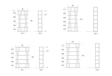 dimensioni librerie libreria di design in alluminio hon clever it