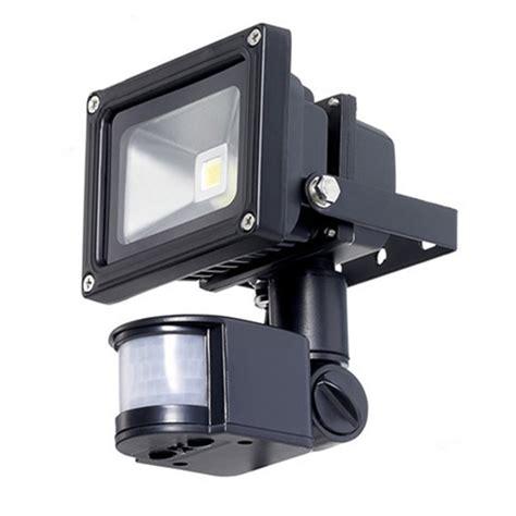 exterior flood lights motion sensor 10w 85 265v waterproof pir motion sensor outdoor light led