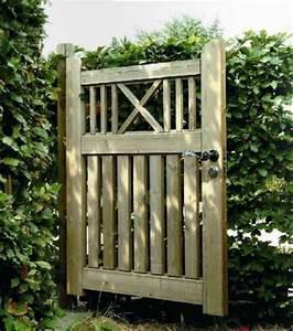 Portillon Bois Jardin : portillon de jardin bois portail bois exotique carlier construction ~ Preciouscoupons.com Idées de Décoration