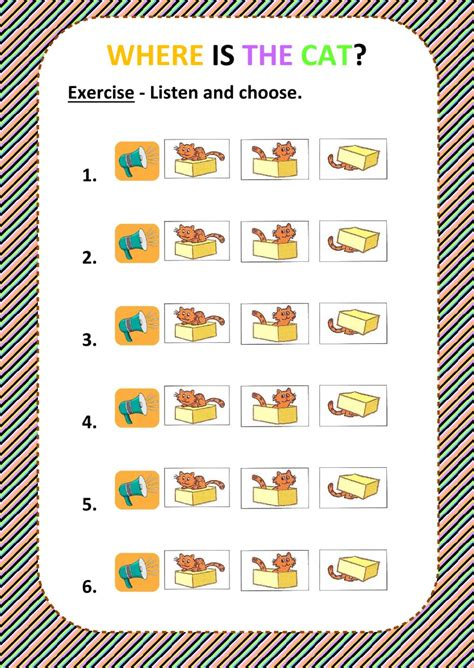 Prepositions  Listen And Choose  Interactive Worksheet