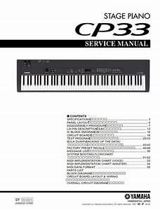 Yamaha Cp33 Stage Piano Service Manual  U0026 Repair Guide In