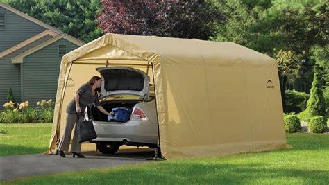 shelterlogic  auto storage shelter car garage steel carport canopy tent ebay