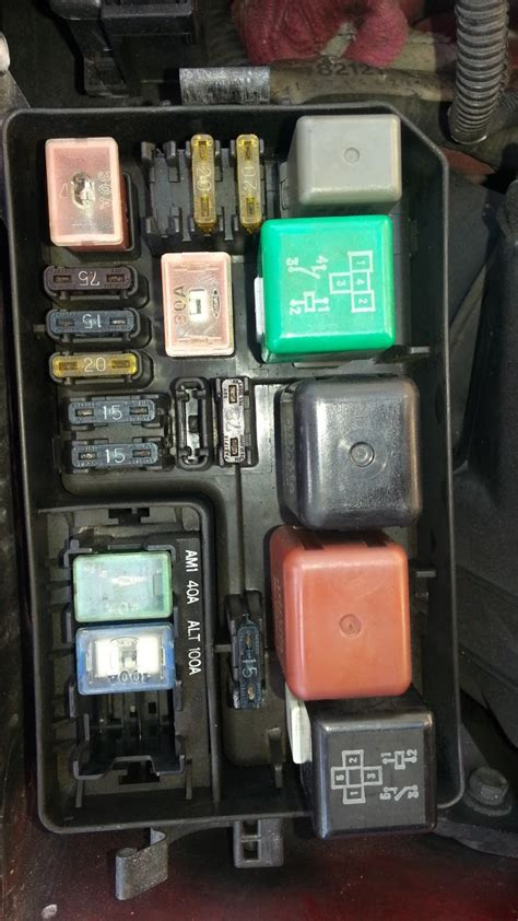 Where I The Inside Fuse Box For A 01 Town Country by Car Diary Yeah Fuse Box And Relays Engine Bay Corolla Ae101