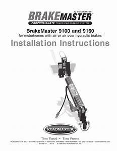 Roadmaster Brakemaster 9160 Braking System Instructions