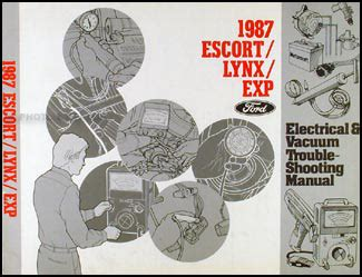 1987 ford shop manual set escort lynx exp tempo topaz 87 mercury service repair ebay 1987 tempo escort exp topaz lynx repair shop manual original set of 2