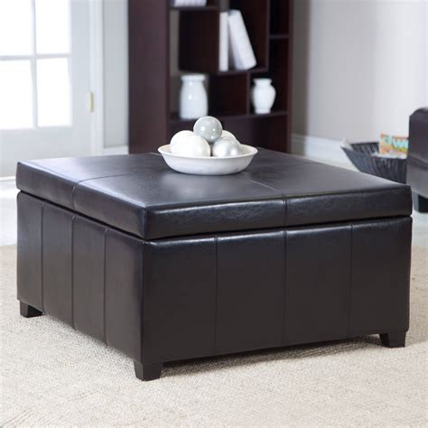 Leather ottoman coffee table is resistant to stains and extremely durable. Best 30+ of Brown Leather Ottoman Coffee Tables with Storages
