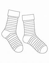 Sock Coloring Template Socks Drawing Pages Striped Blank Syndrome Printable Down Templates Silly Markers Ankle Sketch Via sketch template