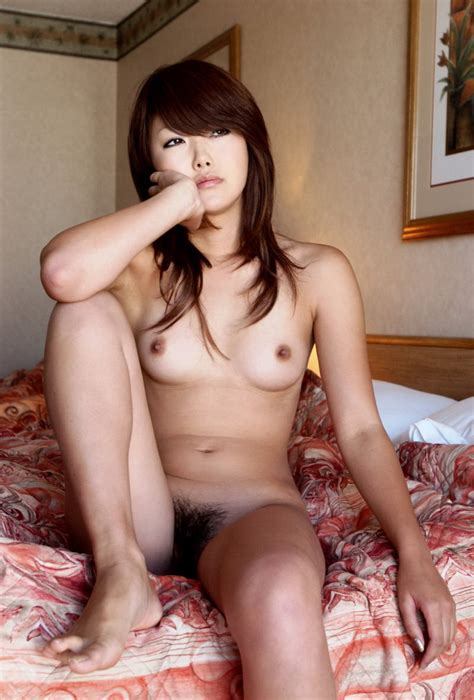 Perfect Sporty Japanese Girl Posing Naked At Hotel Room