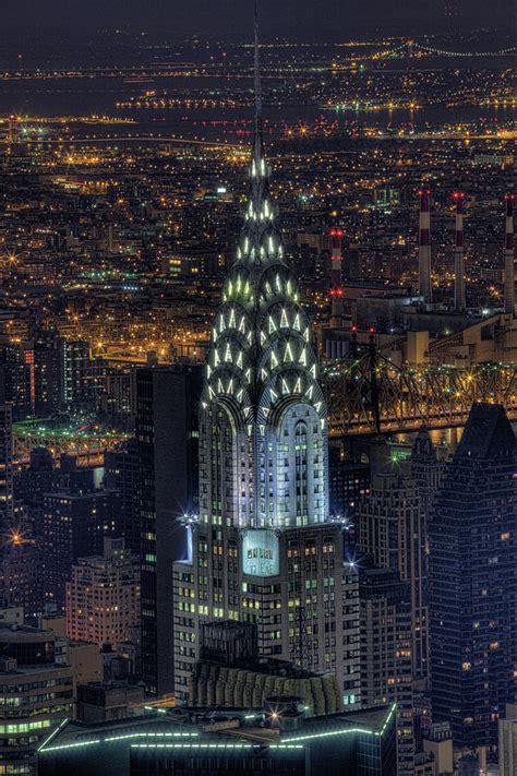 chrysler building  night photograph  jason pierce