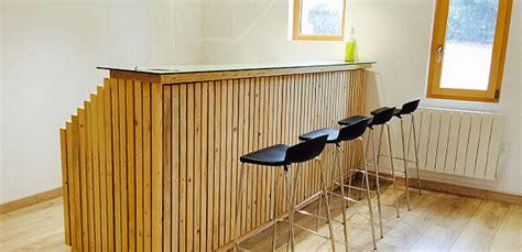 bureau pin massif fabriquer un bar très design à partir du mécano mob