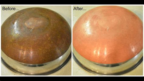 easy method  clean copper vesselscopper bottom pans youtube