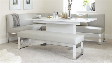 4 Seater Backless Dining Bench   Faux Leather & Chrome