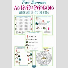 5 Free Summer Activity Printable Worksheets  More Than A Mom Of Three