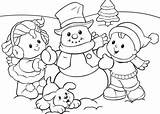 Winter Coloring Pages Printable Everfreecoloring Person sketch template