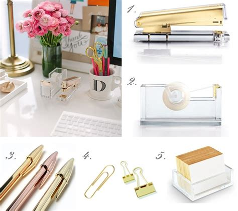 black and gold desk accessories gold desk accessories small office space pinterest