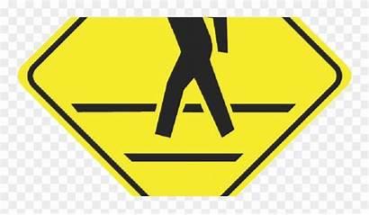 Pedestrian Crosswalk Clipart Sign Pinclipart
