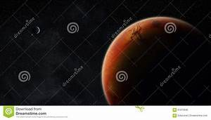 View Of Planet Mars Stock Illustration - Image: 61870590